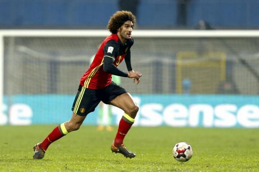 Marouane Fellaini during the FIFA World Cup 2018 qualifier game between Bosnia and Belgium on Oct 7, 2017.