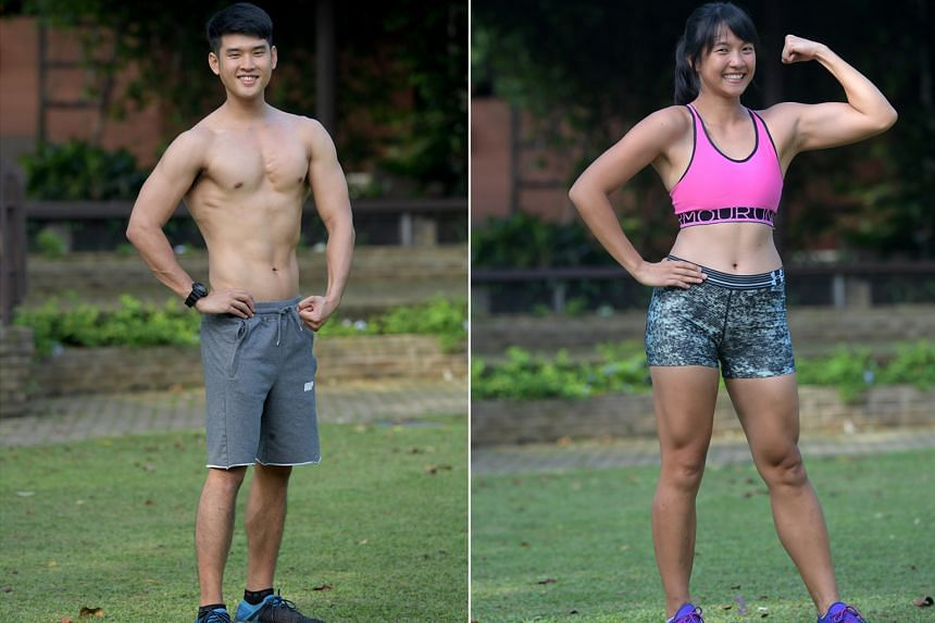 (Left) Tay Jie Wen, 26, Trainer and  Gina Lau, 24, Student development officer.
