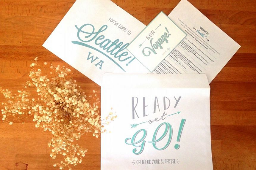 Pack Up + Go clients receive an envelope with the details of their surprise vacation a week before the trip.