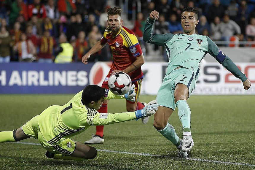 Portugal forward Cristiano Ronaldo making the decisive contribution of the game with the opener in the 63rd minute, having been only named as a substitute against minnows Andorra. Group B leaders Switzerland have 27 points, but Portugal can overtake
