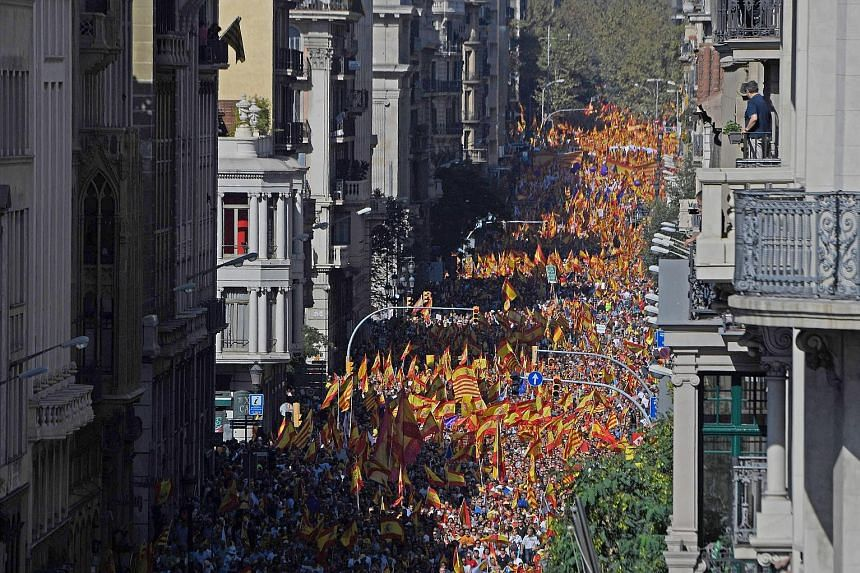 "Spanish Prime Minister Mariano Rajoy said there ""is still time"" for Catalan leaders to backtrack and avoid triggering a tough response from the central government."