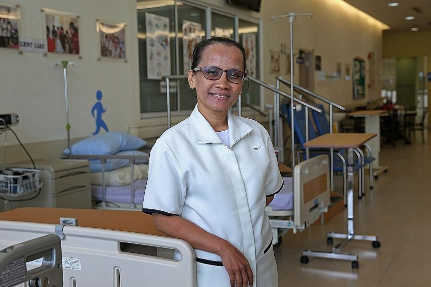 Ms Siti Zarina Samsudin is doing a Nitec in Community Care and Social Services at ITE College East. At 49, she is the oldest student in her course.