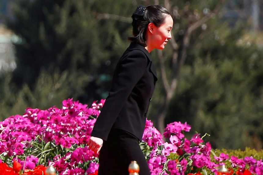 Kim Yo Jong, sister of North Korean leader Kim Jong Un, attends an opening ceremony of a newly constructed residential complex in Ryomyong street in Pyongyang, North Korea on April 13, 2017.