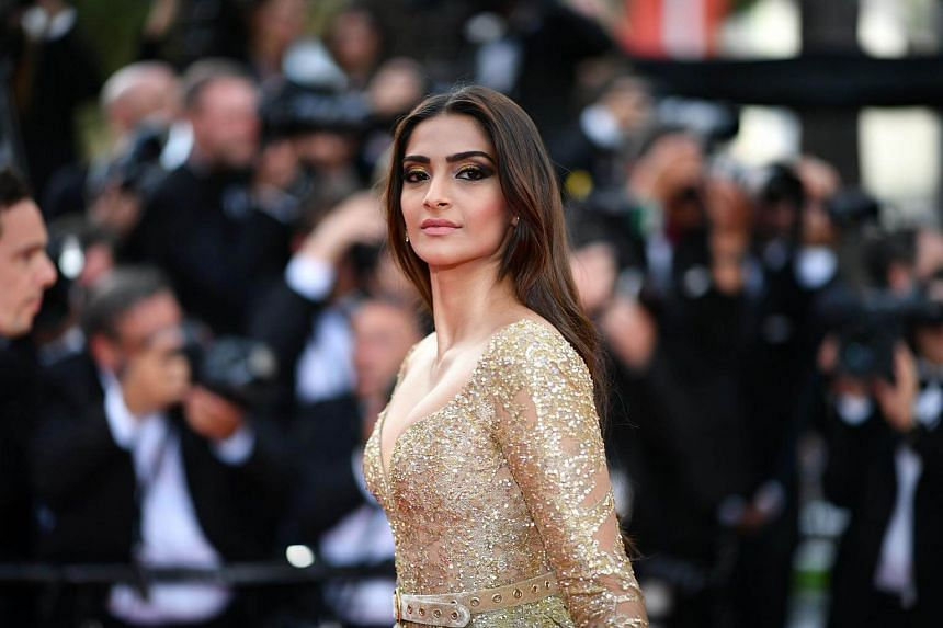 Indian actress Sonam Kapoor arrives for the screening of the film The Killing of a Sacred Deer at the 70th edition of the Cannes Film Festival in Cannes, southern France on May 22, 2017.