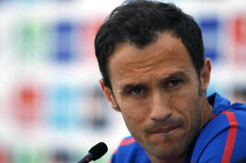 Portugal's national soccer team player Ricardo Carvalho at a news conference in Covilha on May 28, 2010.