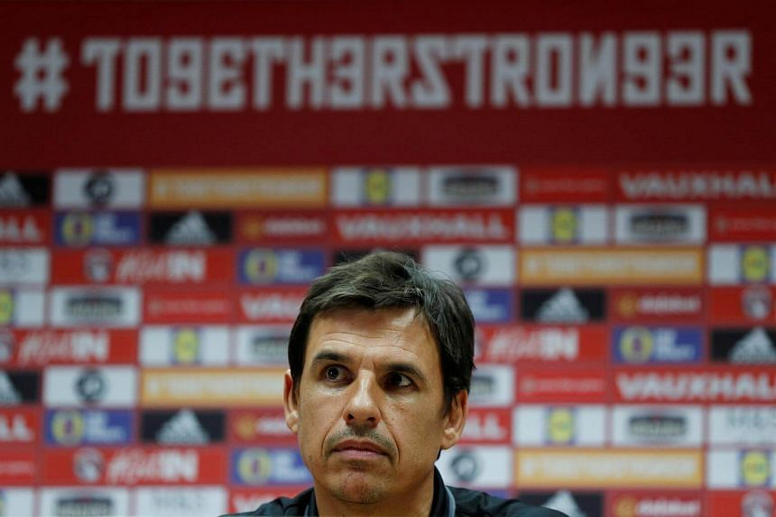 Wales manager Chris Coleman during the press conference on Oct 8, 2017.