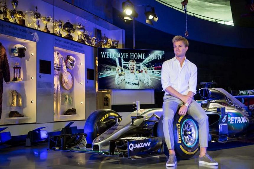 Formula One World champion Nico Rosberg during the transfer of his world championship car, a Mercedes F1 W07 hybrid, into the Mercedes-Benz Museum in Stuttgart, Southern Germany, on Aug 21, 2017.