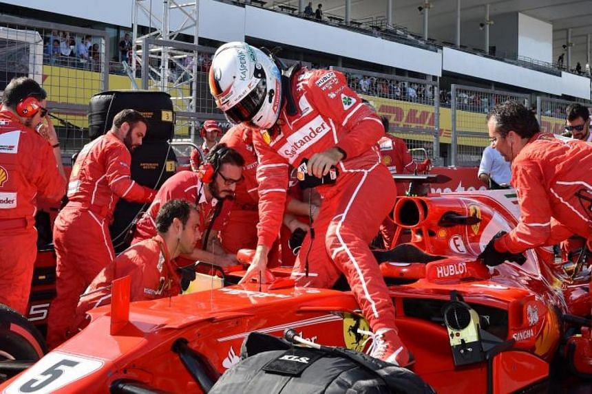 An issue with Sebastian Vettel's car forced him to retire after just four laps.