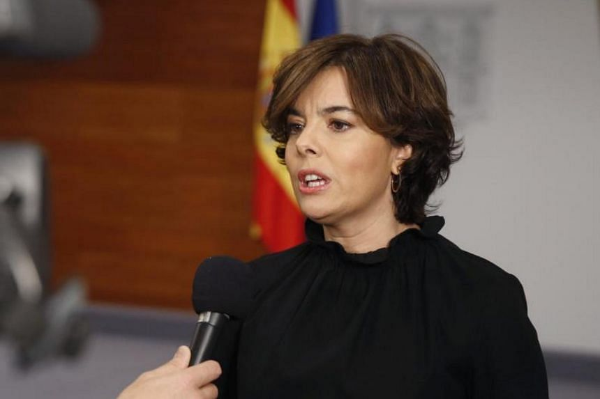 Deputy Prime Minister Soraya Saenz de Santamaría said ministers were ready to stop Catalan President Carles Puigdemont.