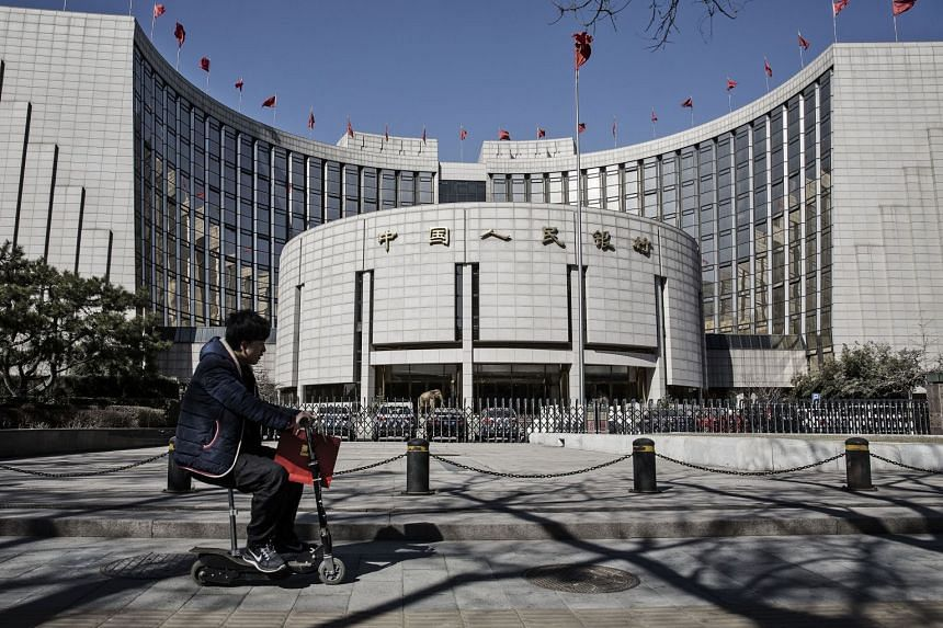 China's banking and real estate stocks led the gains as investors responded to People's Bank of China's announcement on Sept 30.