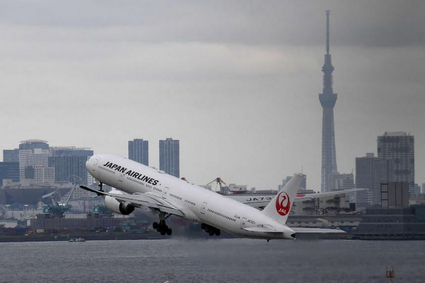 A plane takes off at Haneda international airport in Tokyo in August. A poodle escaped while cargo crews were loading its cage onto a Japan Airlines flight bound for Naha in Okinawa on Oct 9.