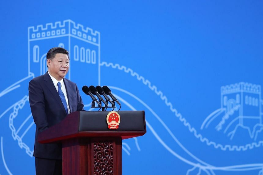 Chinese President Xi Jinping speaks during the 86th Interpol General Assembly at Beijing National Convention Center in China, on Sept 26, 2017.