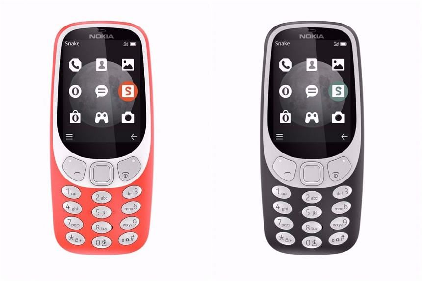 The revamped Nokia 3310, which will retail at $99 in Singapore, comes in two colours - Warm Red and Charcoal.