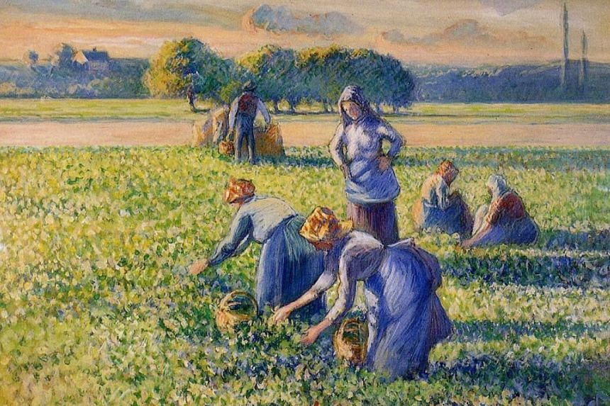 Camille Pissarro's La Cueillette Des Pois was snatched from French Jewish art collector Simon Bauer 70 years ago.