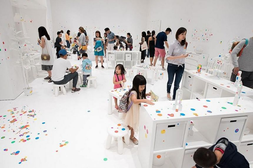 The Obliteration Room at the National Gallery Singapore.