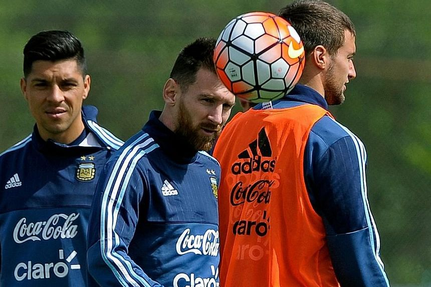 Lionel Messi honing his ball skills at a training session in Ezeiza, Buenos Aires last Sunday. Argentina, currently placed sixth in their group, have not won an away game against Ecuador since 2001.