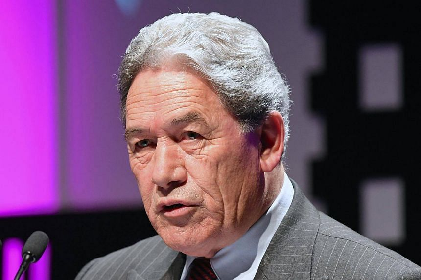 New Zealand First party Leader Winston Peters speaks at the Te Papa Museum in Wellington, New Zealand on Aug 23, 2017.