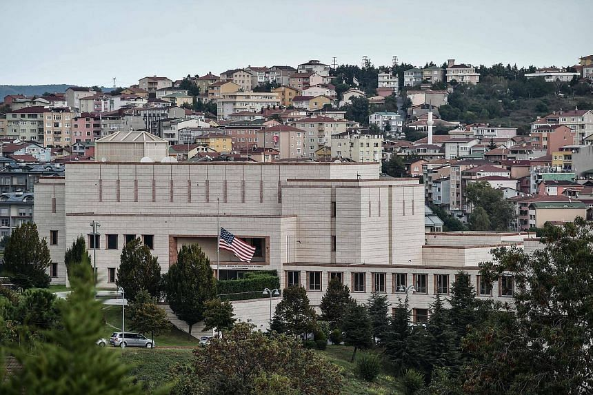The US consulate in Istanbul. The Turkish foreign ministry summoned the US embassy's deputy chief of mission on Monday, urging Washington to reverse its visa decision.