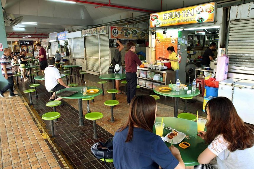Beauty World Food Centre consists of 41 food stalls but the title of the property is contained in a single strata certificate.