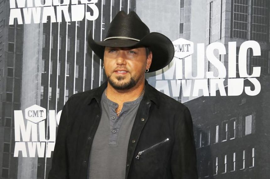 Jason Aldean at the 2017 CMT Music Awards in Nashville, Tennessee, US on June 7, 2017.