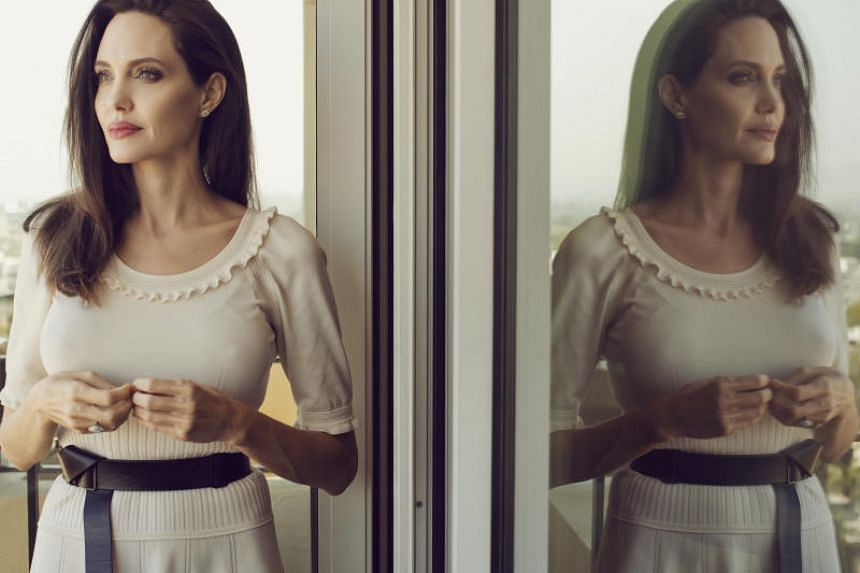 Angelina Jolie at the Four Seasons in Los Angeles on Aug 25, 2017.