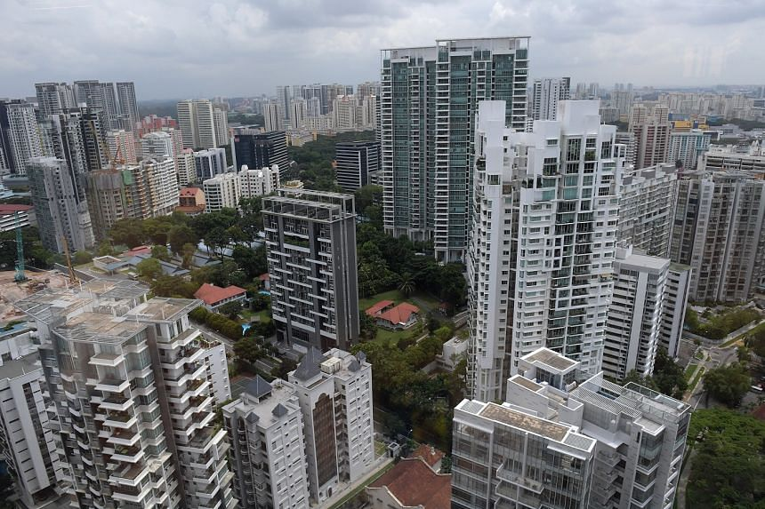 The skyline of apartments in Balestier. The release of the SRX Property non-landed private resale index for last month is expected to support recent signs that the resale market for condominiums is fast improving.