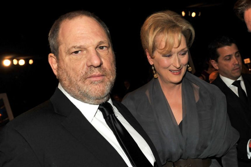 Producer Harvey Weinstein (left) and Meryl Streep attend the 18th Annual Screen Actors Guild Awards in Los Angeles on Jan 28, 2012.