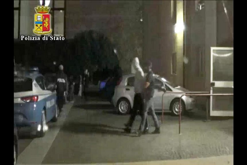 Anis Hannachi, the brother of Ahmed Hannachi, is arrested by Italian police.