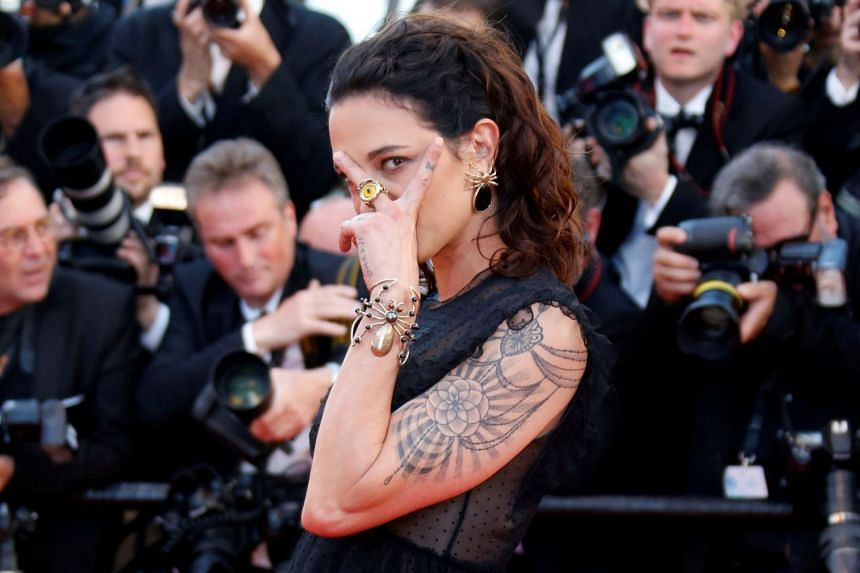 Actress Asia Argento poses at the Cannes film festival in 2017.