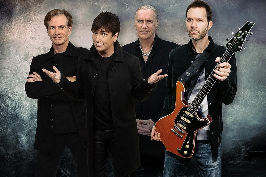 Mr. Big comprise (from left) Pat Torpey, Eric Martin, Billy Sheehan and Paul Gilbert.