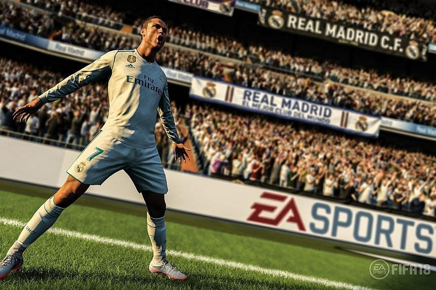 Fifa 18 (above) has more realistic player movement and distinct animations. For example, Fifa 18's cover boy Cristiano Ronaldo's actions in the game are exactly like what he does in real life. The lack of licensing in PES 2018 (below) is an issue and