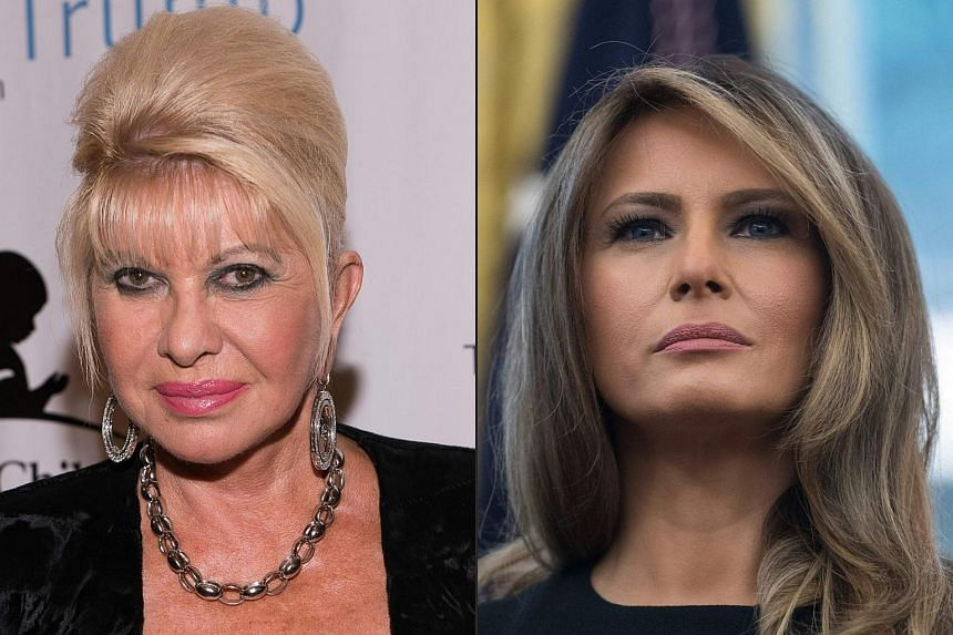 """United States First Lady Melania Trump accused her husband's first wife Ivana of making """"attention-seeking and self-serving noise""""."""