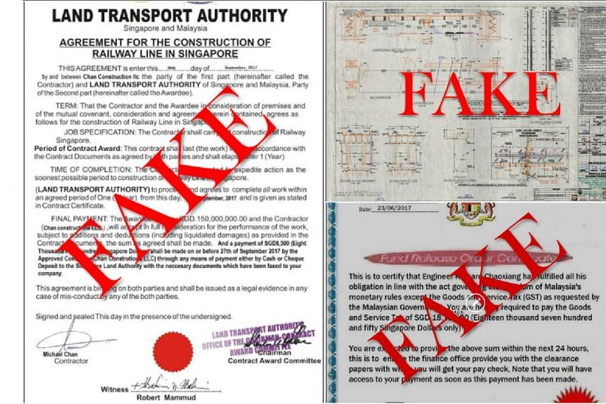 "Scammers are using fake contracts, bonds and drawings of construction works, purportedly of the KL-Singapore high-speed rail project, to lure victims into ""investing"" with them."