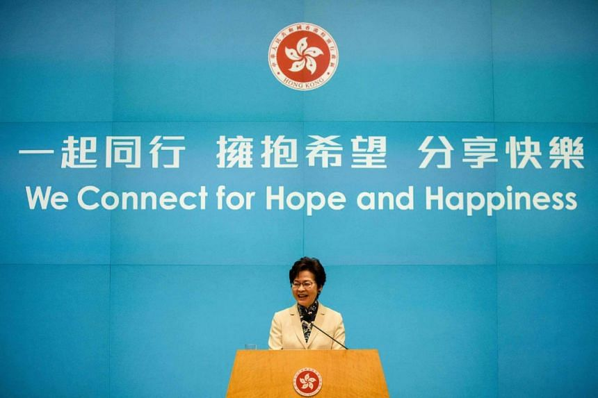 Hong Kong's Chief Executive Carrie Lam said on October 11 that Hong Kongers have a duty to stand up for China over threats to its sovereignty.