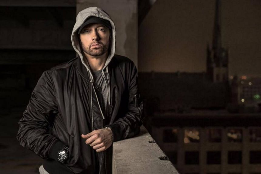 Eminem called Mr Trump incompetent and prejudiced during his performance.