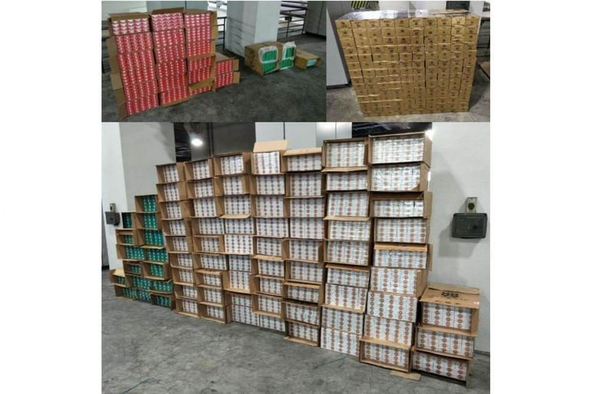 A total of 6,000 cartons of duty-unpaid cigarettes were seized.