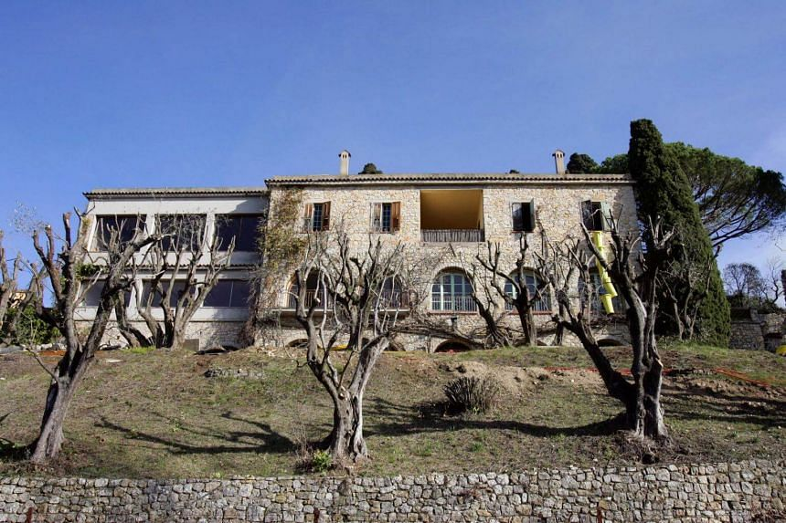 The villa at Mougins is expected to sell for more than 20 million euros (S$32.08 million).