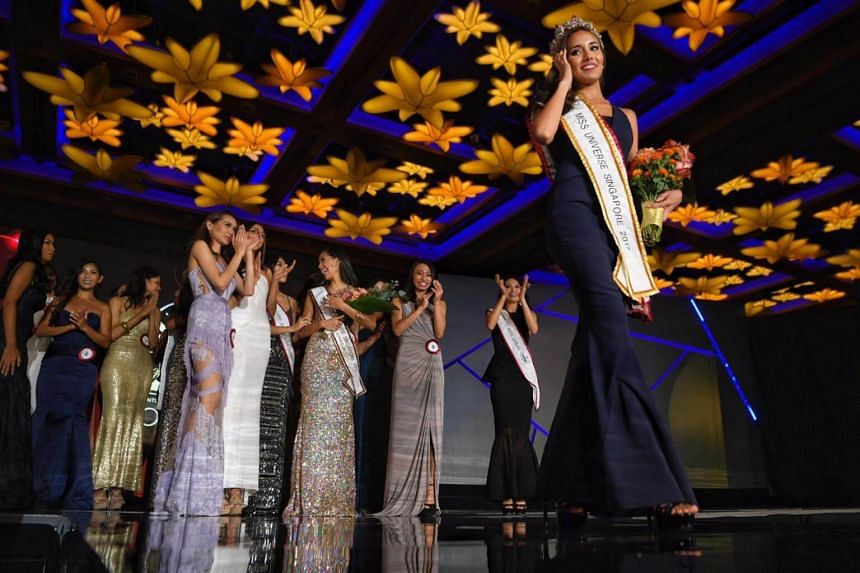 24-year-old Manuela Blanka Bruntraeger took home the crown of Miss Singapore Universe 2017, on Oct 11, 2017.