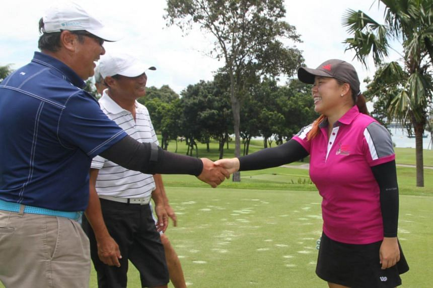 Former national golfer and Youth Golf Programme alumni Joey Poh took part in Wednesday's (Oct 11) fundraiser held at Sentosa Golf Cub by the Youth Golf Network, which manages the YGP.