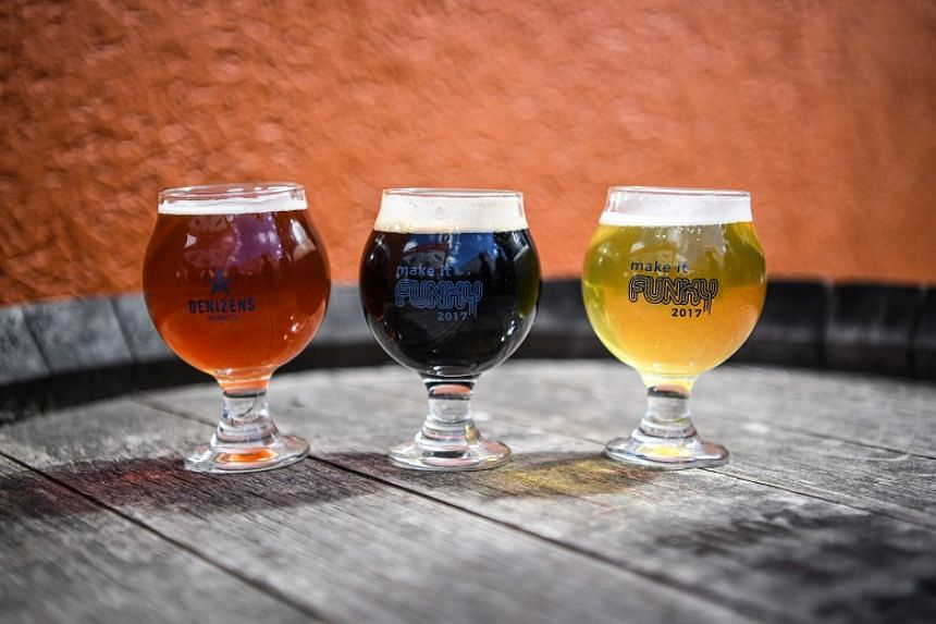 A trio of Allagash beers - Avance, Ganache and Little Brett - were just a few of the sour offerings at Denizens' annual Make It Funky festival on Sept 30 in Silver Spring.