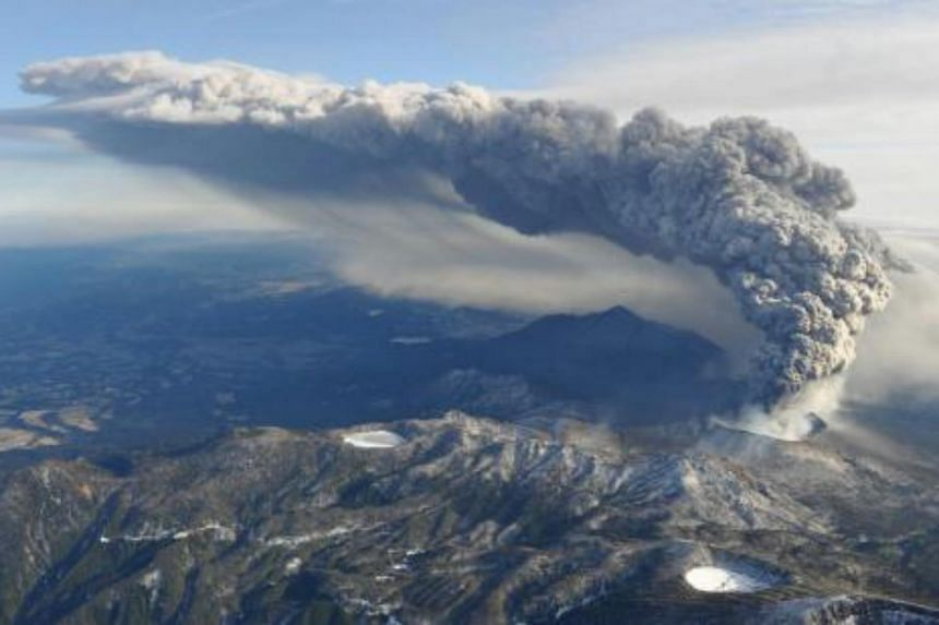 """An official for the Japanese Meteorological Agency said Mount Shinmoedake would continue to erupt and """"become more active""""."""