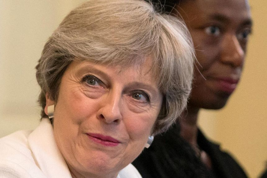 """British Prime Minister Theresa May said she had """"good reasons"""" when she backed EU membership in the 2016 vote, when she was interior minister, but that circumstances have changed in the interim."""