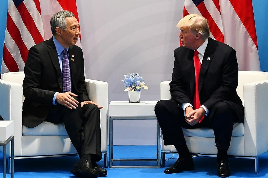 United States President Donald Trump will welcome Prime Minister Lee Hsien Loong at the White House on Oct 23.