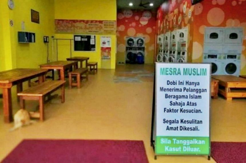 The Muslim-only launderette that was ordered by the Johor Sultan to stop its discriminatory business practice.