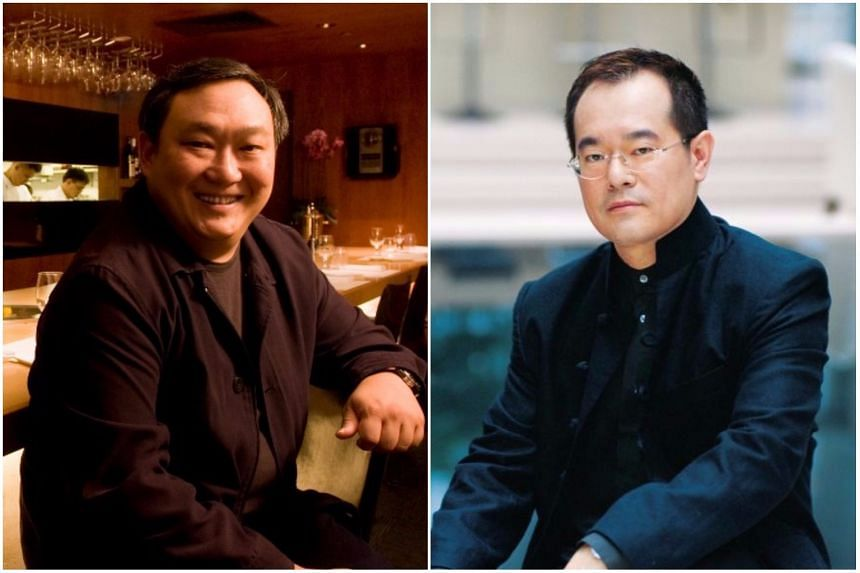 Iggy's owner Ignatius Chan (left) and Tung Lok Restaurants executive chairman Andrew Tjioe were among those who expressed their sentiments over the restaurant's closing.