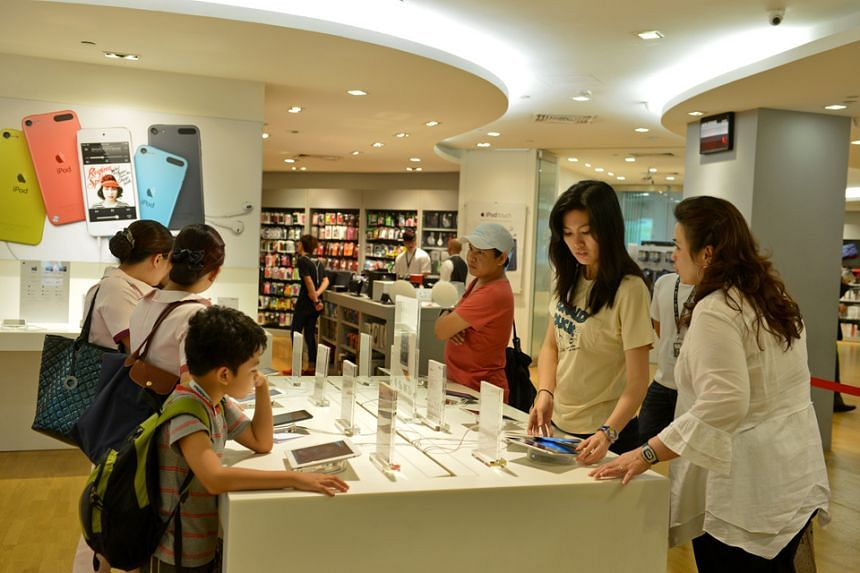 The Epicentre store at Ion Orchard. The Apple reseller's shares fell by 12 per cent after auditors would not sign off on the company's financial statements over transactions with entities involving company shareholders.