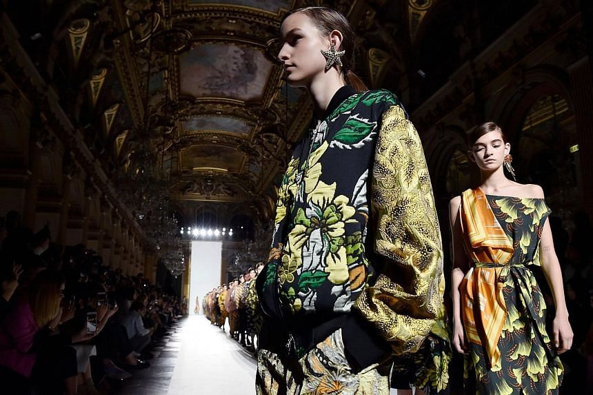 Dries Van Noten's women's 2018 Spring/ Summer ready-to-wear collection fashion show in Paris last month.