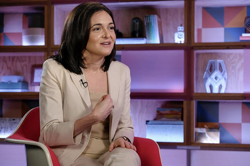 Sheryl Sandberg, Facebook's chief operating officer, during a Bloomberg Studio 1.0 television interview at Facebook headquarters in Menlo Park, California, on July 28, 2017.
