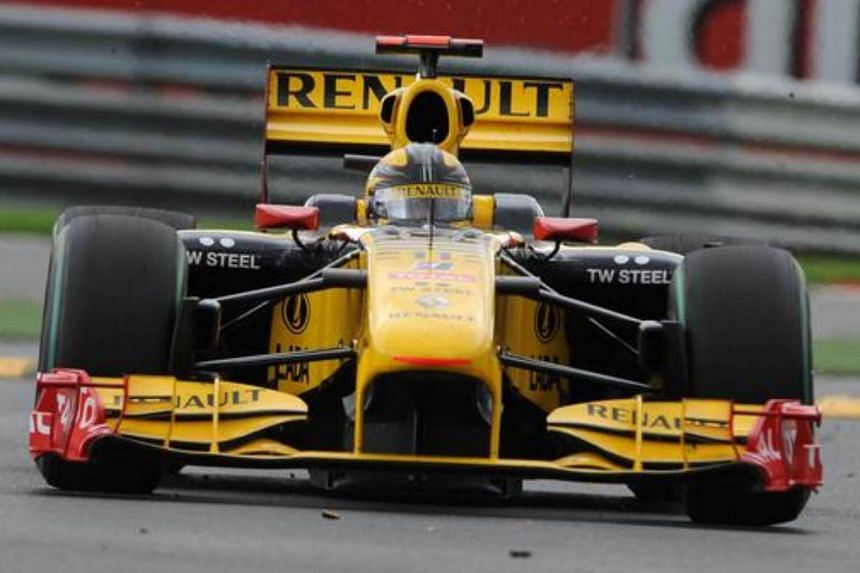 F1's Polish driver Robert Kubica drives at the Spa Francorchamps circuit in Spa, during the Formula One Belgian Grand Prix.