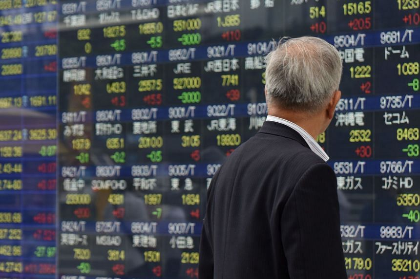 Asian stocks were near a decade high on Thursday (Oct 12), riding the bull run in global equity markets.